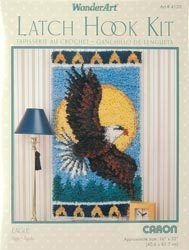 Wonderart Latch Hook Kit 16 x 32 Eagle