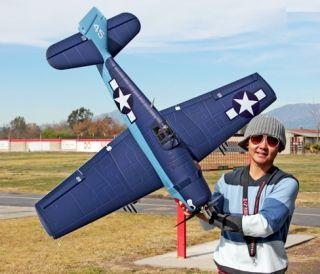 Large Scale Hellca F6F Airplane Elecric Brushless Warbird RC ARF RxR