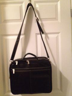 Latico Black Leather Computer Bag