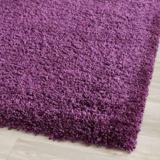 Hand Woven Cozy Shag Purple Carpet Area Rug 4 x 6