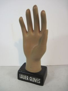 Vintage Lauer Gloves Advertising Sign Store Display Outstanding
