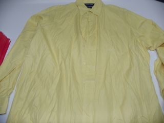 Polo Ralph Lauren Golf Lofting Dress Shirt Yellow M Medium 16 x 34 35
