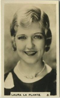 Laura La Plante 1932 Hill Series C Movie Tobacco Card