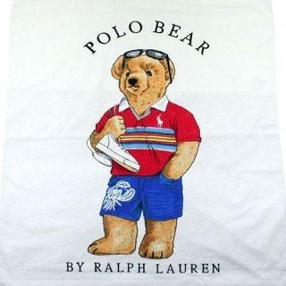 Ralph Lauren Polo Bear x Large 35x66 Beach Towel
