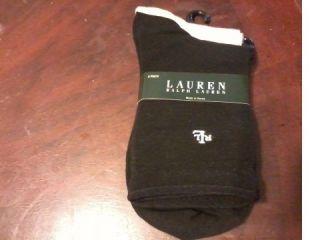 Lauren by Ralph Lauren Womens Socks Two Pack Size 9 11 NWT