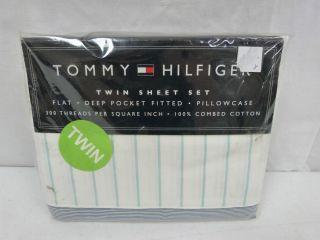 New Tommy Hilfiger Laurel Hill Street Twin Sheet Set