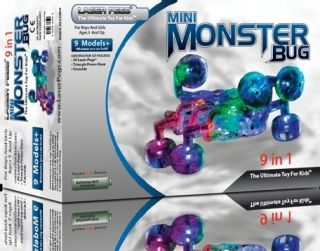 Laser Pegs Mini Monster Bug Building Kit 9 in 1