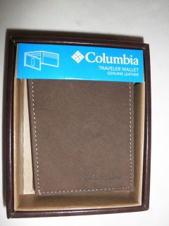 Special Read Description $25 Mens Columbia Leather Traveler Wallet