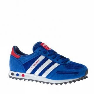 Adidas La Trainer K Textile UK Size Light Blue Red Trainers Shoes Kids