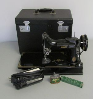Vintage Singer Featherweight Centennial Sewing Machine Portable in
