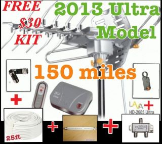 Lava HD 2605 Ultra w/ G3 Control Box Indoor/Outdoor HDTV Antenna