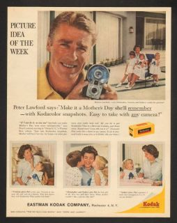 1960 Kodak Camera Peter Lawford Oceans 11 Print Ad