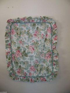 Laura Ashley Pink Cottage Rose Ruffled Pillow Sham