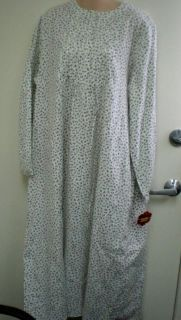 WOMENS CROFT & BARROW LONG FLORAL FLANNEL NIGHTGOWN SIZE 2X NEW WITH