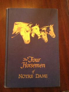 1959 Four Horsemen of Notre Dame Signed Autographed Book Red Grange