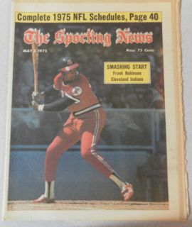 The Sporting News Frank Robinson Cover Cleveland Inditans May 1975