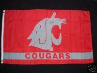 Washington State University Cougars Flag 3x5 Banner