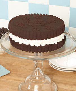 SILICONE BIG Oreo Sandwich layer cookie Round Cake mold Pan Baking se