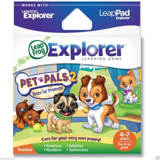 New Leap Frog Leapster Leap Pad Explorer Pet Pals 2 Best of Friend