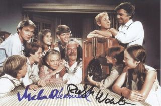 Ralph Waite Michael Learned Richard Thomas in The Waltons Hand Signed