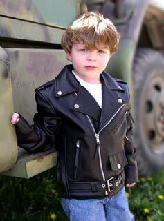 Children Toddler Kids Babies Boys Girls Leather Jacket
