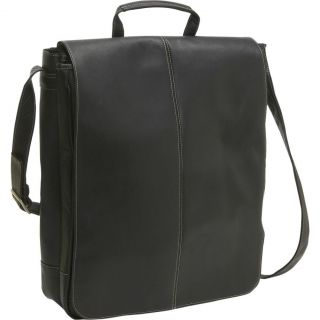 Le Donne Leather 17 Vertical Laptop Messenger Bag