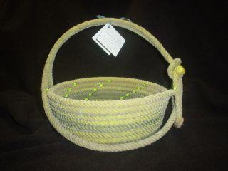 Rope Basket Cowboy Western Used Rope Decor Wedding Flower Girl