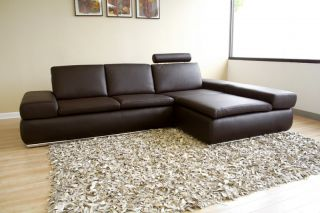 Fausto Recliner 100 Italian Leather Sectional Sofa Bed