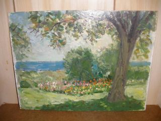 Listed Vladimir Lebedev Russian Amer Landscape Painting