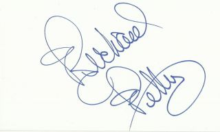 Leah Remini Signed Autographed Auto 5 x 3 Index Card IDC Actress Model