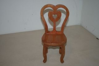 Small Wooden Doll Chair w Heart Design by Ralph M Lawrence 2