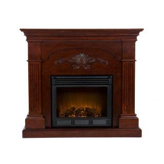 SEI Electric Fireplace Stove 42 LED Light Heat Remote Control Wood