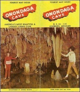 Brochure Onondaga Cave Roue 66 Leasburg Missouri Daniel Boone