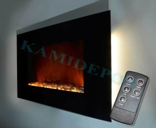 Modern Electric Fireplace Heater LED Remote Control 510E PB
