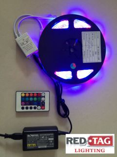 Meter LED Flexible RGB Color Changing Kit Strip Controller Remote