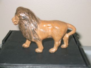 Vintage Original Cast Iron Penny Still Bank Lion