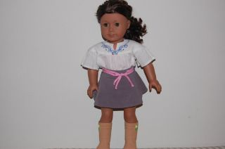 My American Girl Doll Medium Skin Curly Dark Brown Hair Hazel Eyes