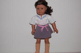 My American Girl Doll Medium Skin Curly Dark Brown Hair Hazel Eyes