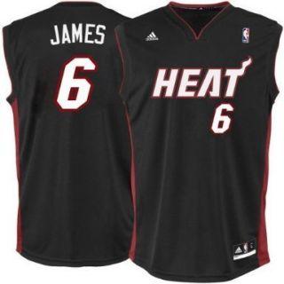Adidas Miami Heat Lebron James Boys Small NBA Jersey Blk