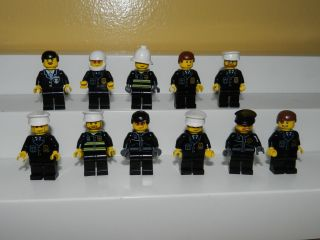 Lego Legos City Town Rescue Police Officer Officers Lot 11 Mini