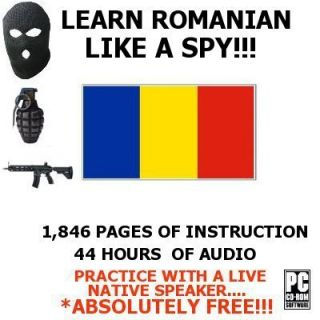Learn How to Speak ROMANIAN Language SPY Audio & Books Training Course