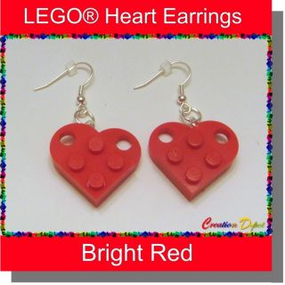 Lego® Fashion Heart Dangle Earrings Valentines Day
