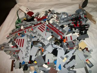 Lego 10 Pound lbs Star Wars SHIP Parts Piece Lot