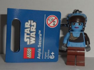 Lego Star Wars 2011 Aayla Secura Key Ring New