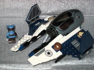 CUSTOM Star Wars LEGO Aayla Secura ETA2 Jedi Starfighter 8098 7256