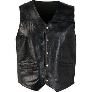 Mens Womens Leather Motorcycle Vest Jacket XXXL 3XL