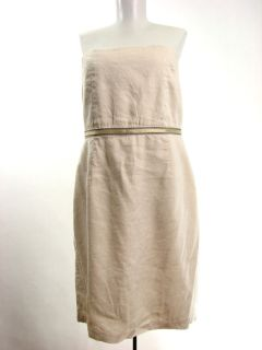 Lela Rose for Loft Dress Sz 12 Stretch Linen Blend Strapless