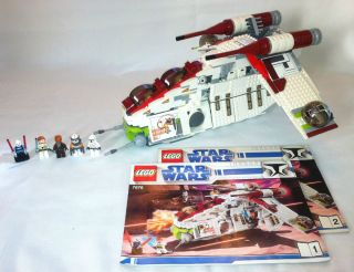 Lego Star Wars Republic Gunship Set 7676 Complete