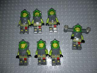 Lego Atlantis Divers Minifigures Lot of 7 Underwater Divers Scuba Guys