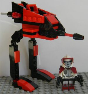 LEGO STAR WARS CLONE WARS NEW 9488 ARC CLONE TROOPER CUSTOM 8014 AT RT